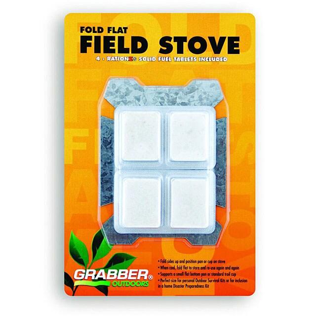 Compact Fold Flat Field Stove w/ 4 Fuel Tabs