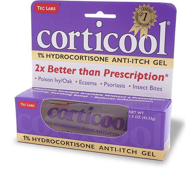 CortiCool 1-percent Hyrdocortisone Anti-Itch 1.5-ounce Gel Tube