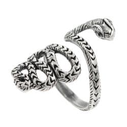 Journee Collection  Sterling Silver Snake Wrap Ring - Thumbnail 1