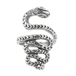 Journee Collection  Sterling Silver Snake Wrap Ring