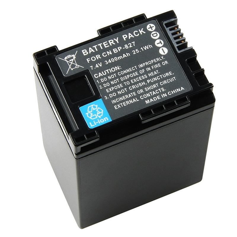 INSTEN Canon BP-827 Compatible Decoded Li-ion Battery