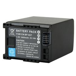 INSTEN Canon BP-827 Compatible Decoded Li-ion Battery - Thumbnail 1