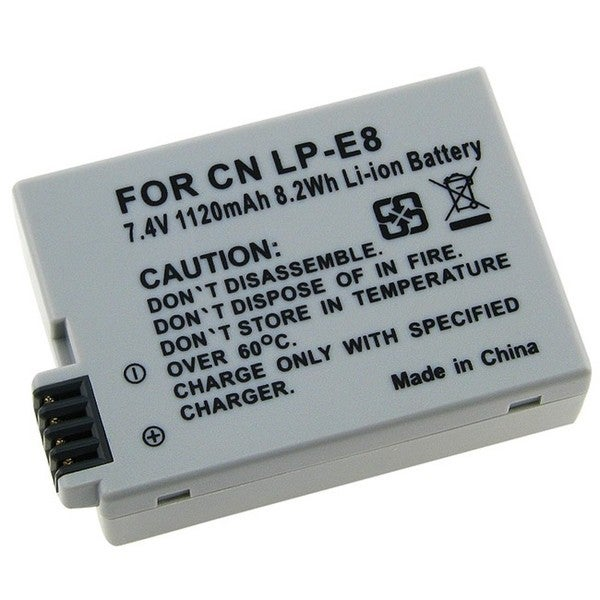 INSTEN Canon LP-E8 Compatible Grey High-capacity Rechargeable Li-ion Battery
