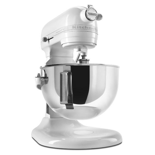 KitchenAid KV25G0XWW White on White Professional 5 Plus 5-Quart Stand Mixer