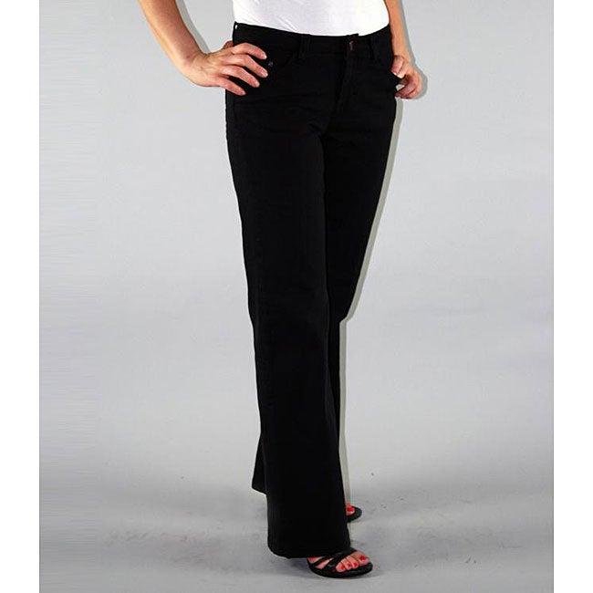 Institute Liberal Women's Black Twill Bootcut Pants - Free ...