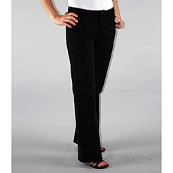 Institute Liberal Women's Black Twill Bootcut Pants