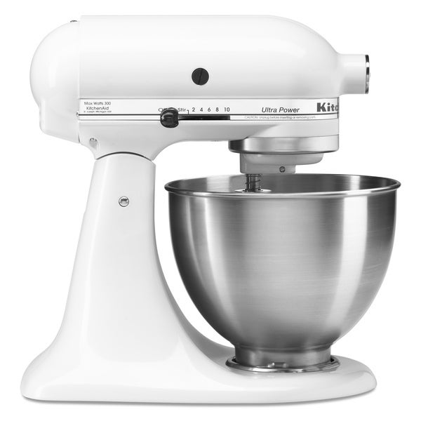 Kitchenaid ksm95pswh white 4 5 quart ultra power tilt head for Kitchenaid 0 finance