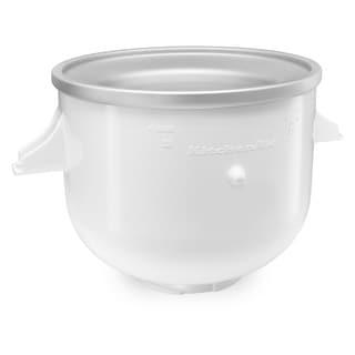 KitchenAid KICA0WH White Ice Cream Bowl Attachment