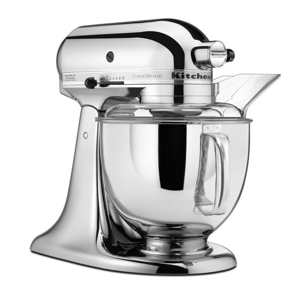 KitchenAid KSM150PSCR Custom Metallic Chrome 5-quart Artisan Stand Mixer  with $30 Rebate