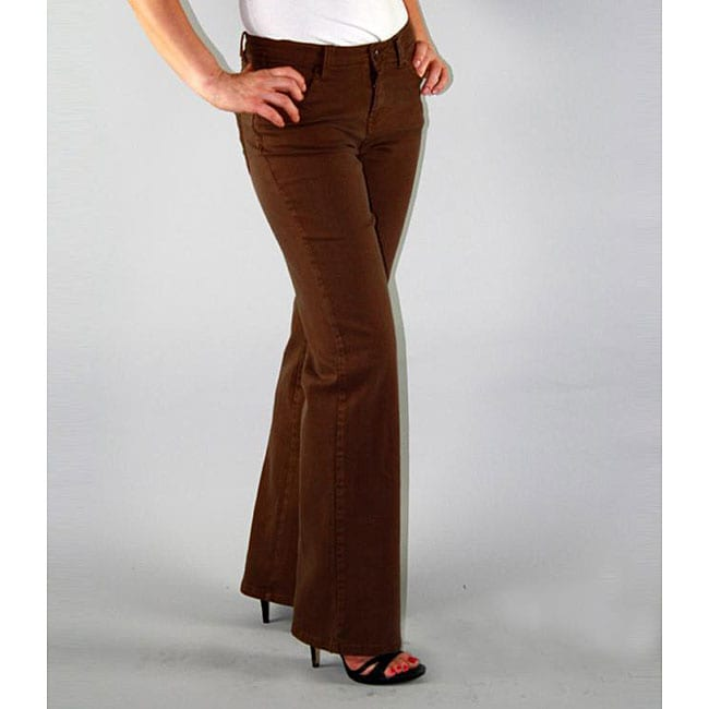 Institute Liberal Women's Brown Twill Bootcut Pants - Free ...
