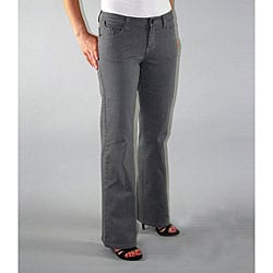 Institute Liberal Women's Grey Twill Bootcut Pants - Thumbnail 0