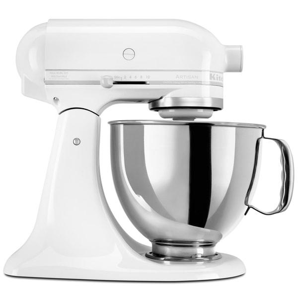 Shop Kitchenaid Rrk150ww White On White 5 Quart Artisan
