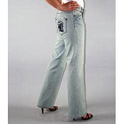 Institute Liberal Women's Light Blue Stretch Logo Pocket Jeans - Thumbnail 1