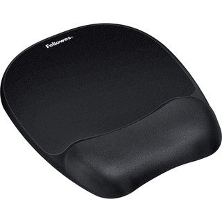 Fellowes Memory Foam Mouse Pad/Wrist Rest- Black