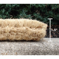 Plain Outdoor Coconut Fiber Extra-thick Door Mat (1'6 x 2'6) - Thumbnail 1