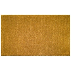 Plain Outdoor Coconut Fiber Extra-thick Door Mat (1'6 x 2'6)
