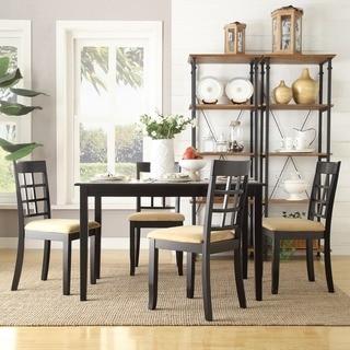 Copper Grove Liebenwerda Black Window-back 5-piece Dining Set
