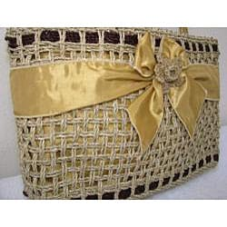 Handmade Natural Square Agel Handbag (Indonesia) - Thumbnail 1