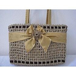 Handmade Natural Square Agel Handbag (Indonesia)