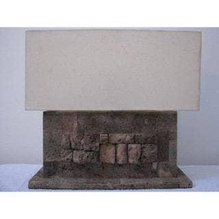 Lava Stone Table Lamp, Handmade in Indonesia