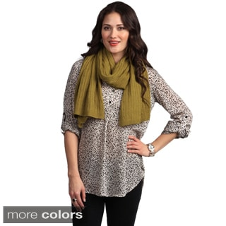 Cashmere Showroom Double-width Cable Muffler Scarf