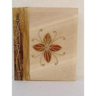 Handmade Banana Bark Flower Photo Album (Indonesia)