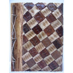 Rayon from Bamboo, Leaves and Bark Diagonal Checker Photo Album (Indonesia)