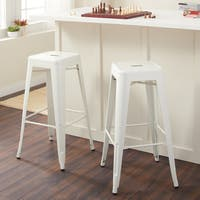 Carbon Loft Tabouret 30-inch White Bar Stools (Set of 2)