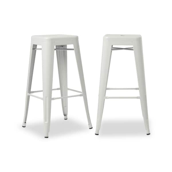 Marvelous Shop 30 Inch White Bar Stools Set Of 2 Free Shipping Andrewgaddart Wooden Chair Designs For Living Room Andrewgaddartcom