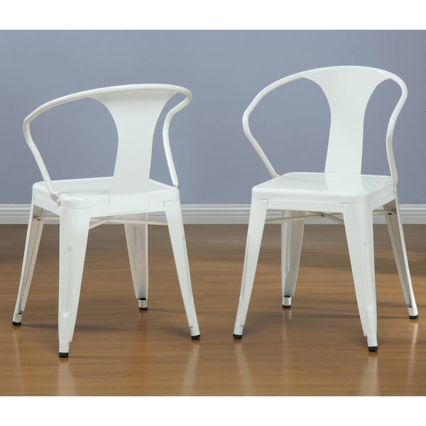 Nice White Tabouret Stacking Chairs (Set Of 4)   Free Shipping Today    Overstock.com   12950047