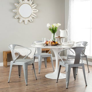 Carbon Loft Silver Tabouret Stacking Chairs (Set of 4)