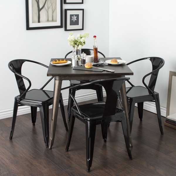 shop black tabouret stacking chairs set of 4 free shipping today