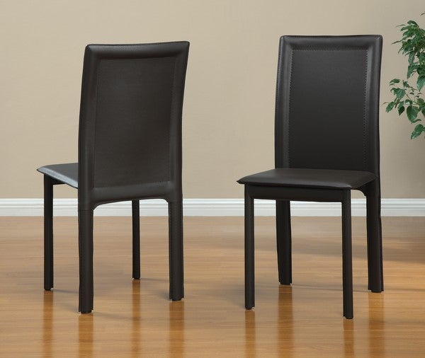 Brown Vinyl Dining Chairs (Set of 4)