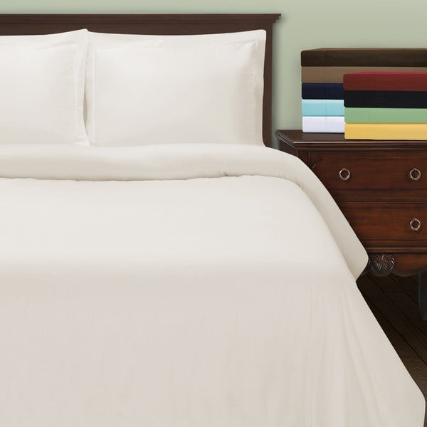 Superior 530 Thread Count Cotton Sateen Duvet Cover Set