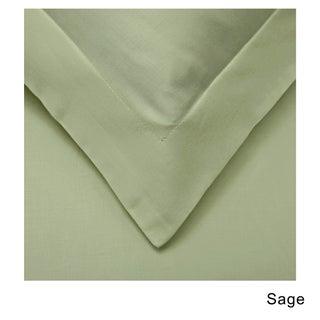 Superior 530 Thread Count Cotton Sateen Duvet Cover Set (Option: Sage - Twin - 2 Piece)