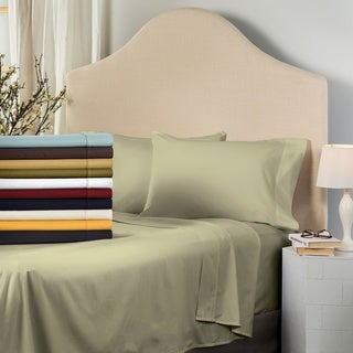 Superior 530 Thread Count Cotton Sateen Pillowcase Set (Set of 2)