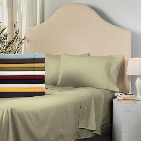 Superior 530 Thread Count Cotton Sateen Pillowcase Set (Set of 2)