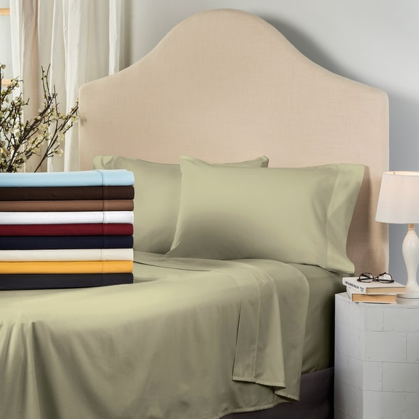 Superior 530 Thread Count Split King Deep Pocket Cotton Sateen Sheet Set