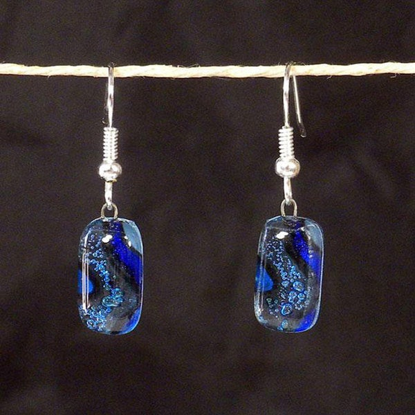 Warm Current Fused Glass Earrings (Chile)