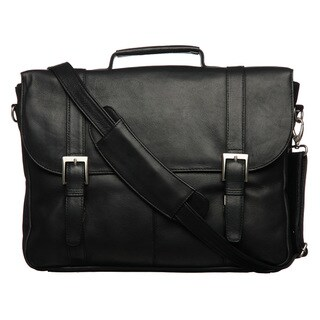Royce Leather Triple-compartment Laptop-ready Briefcase