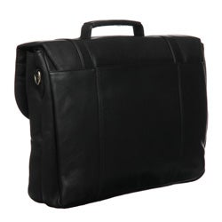 Royce Leather Triple-compartment Laptop-ready Briefcase - Thumbnail 1