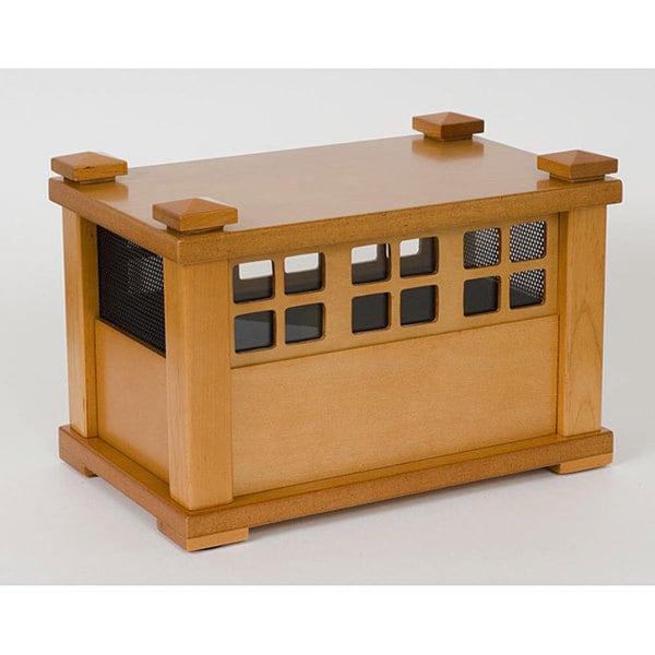Rain Natural 3 Note Wood Finish Chime Free Shipping