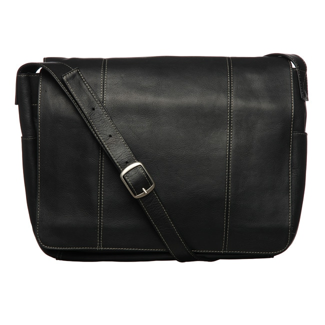 Royce Vaquetta Leather 13-inch Laptop Messenger Bag - Free ...
