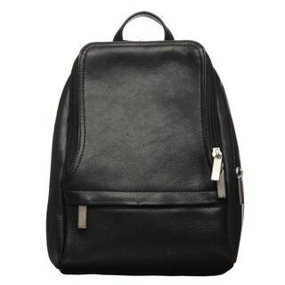 Royce Leather Vaquetta 10-inch Black Knapsack Adjustable Backpack