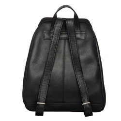 Royce Leather Vaquetta 10-inch Black Knapsack Adjustable Backpack - Thumbnail 1