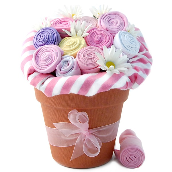 Nikki's Baby Blossom Girl Clothing Gift Bouquet. Opens flyout.