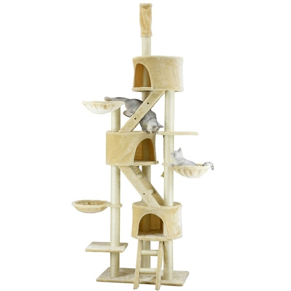 Huge Cat Tree Condo House Scratcher Furniture Free Shipping Today 5098577