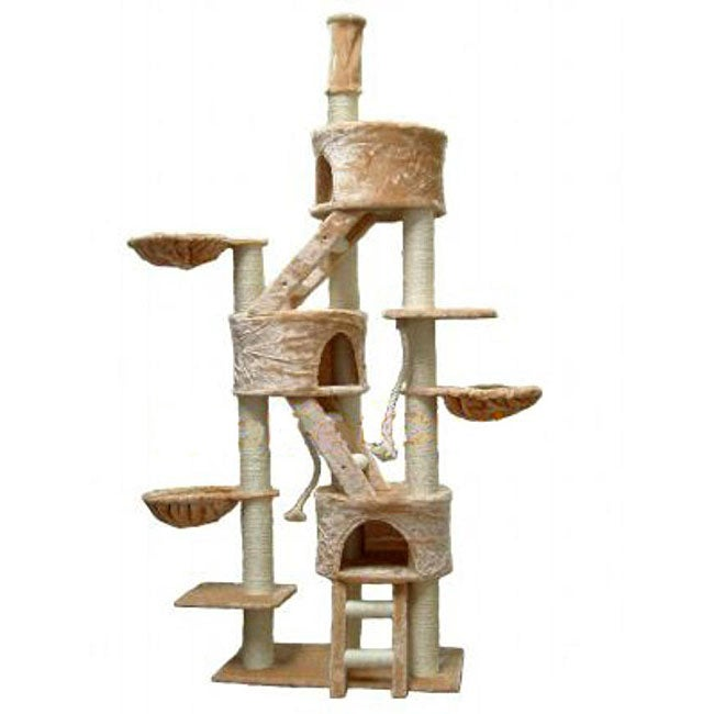 Go Pet Club Cat Tree Condo on cat scratching furniture