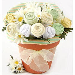Nikki's Baby Blossom Clothing Bouquet Gift|https://ak1.ostkcdn.com/images/products/5098582/Nikkis-Baby-Blossom-Clothing-Bouquet-Gift-P12952434.jpg?impolicy=medium