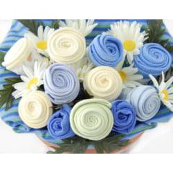 Nikki's Baby Blossom Clothing Bouquet Gift-Boy - Thumbnail 1